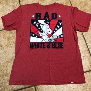 Boys large Snoopy Rad, white and Blue t-shirt